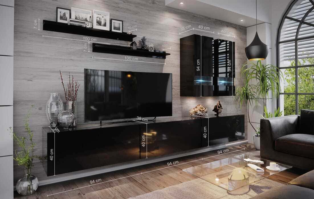 White Wall Unit For The Living Room, Living Room Display Furniture
